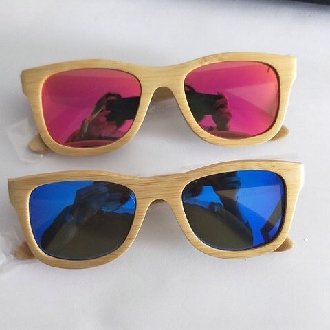 Bamboo Sunflasses for Kids – pink / blue