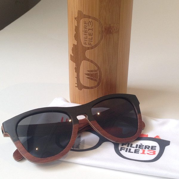 Gravity – Wooden Sunglasses – Frame made of Ebony and Maple – bLACK Polarized lenses