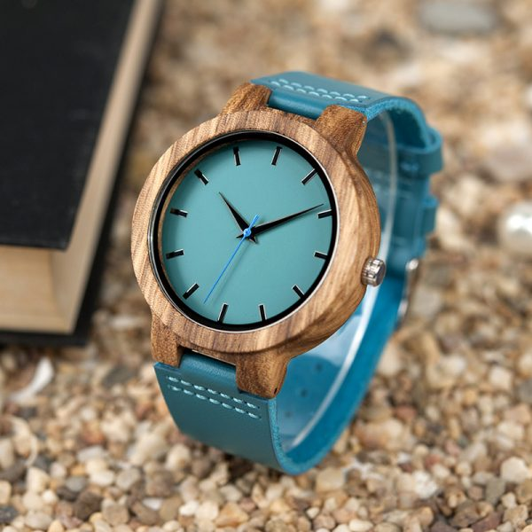 BLUERIDGE – Wooden watch (bamboo frame with leather band)