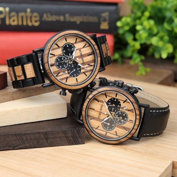 Inconito – Wooden and stainless steel watch for men