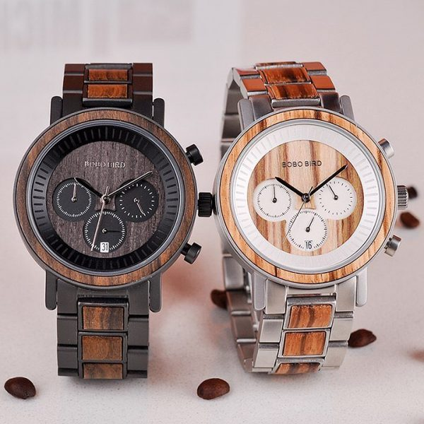 RÊ – Watch made of Stainless Steel and Wood for Men